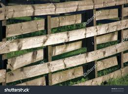 Large Horizontal Weathered Wooden Rustic Fence Vintage Stock Image 57650890