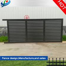 China Outdoor Aluminium Metal Garage Sliding Galvanized Steel Fence Door Wrought Iron Automatic Main Gate Design For Home Garden Farm China Door Iron Grill Design Horse Fence