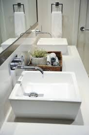 master bathroom with square vessel
