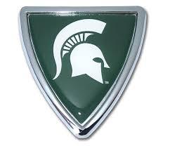 Michigan State Shield Chrome Emblem Elektroplate