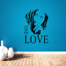 Bob Marley One Love Vinyl Decal Quote Diy Art Mural Home Decor Bedroom Removable Wall Stickers Wall Sticker Removable Wall Stickersdecoration Bedroom Aliexpress