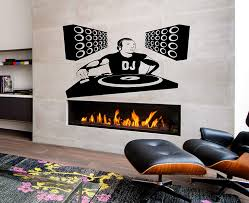 Amazon Com Dj Musician Player Music Player Music Kids Room Children Stylish Wall Art Sticker Decal G8651 Kitchen Dining