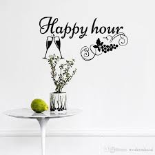 Happy Hour Kitchen Wall Stickers Home Decor Wine Glass And Grape Wall Decals Decorations For Walls Tree Stickers For Wall Tree Wall Art Stickers From Moderndecal 7 24 Dhgate Com