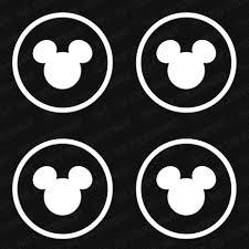 Disney Mickey Head Circle Set 4pc 2 X2 Vinyl Decals The Stickermart