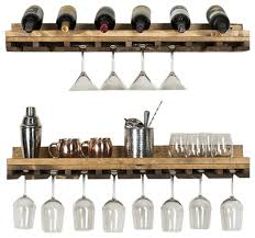 rustic luxe wine glass shelves set of