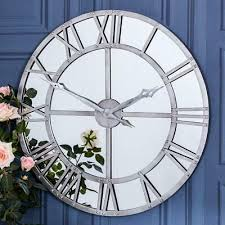 large mirrored wall clocks