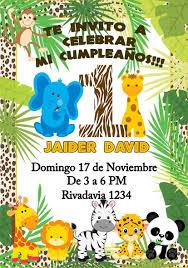 Tarjeta Invitacion Digital Safari Selva Cumpleanos 150 00 En