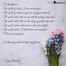 to that flower the smel quotes writings by srijita bhowal