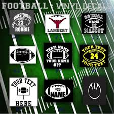 Football Vinyl Decals Car Window Sticker Team Sports Decal Personalized Sticker Pg 1 Car Decals Vinyl Football Vinyl Decal Vinyl Decals
