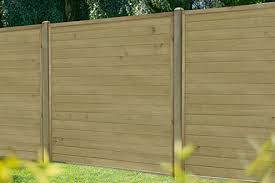5ft 1 83m X 1 52m Pressure Treated Horizontal Tongue And Groove Fence Panel Forest Garden