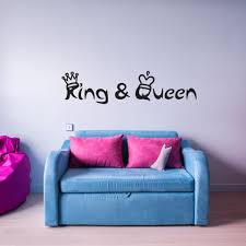 King And Queen With Crowns Wall Decal Wall Decal Quote Style And Apply