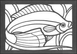 easy stained glass coloring pages