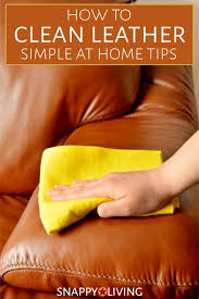 diy leather cleaning tips snappy living