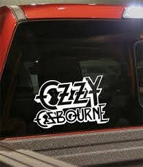 Ozzy Osbourne 2 Band Decal North 49 Decals