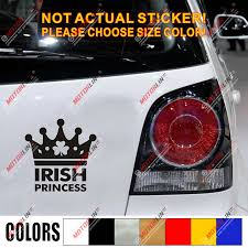 Shamrock Clover Irish Princess Crown Decal Sticker Ireland Queen Car Vinyl Car Stickers Aliexpress