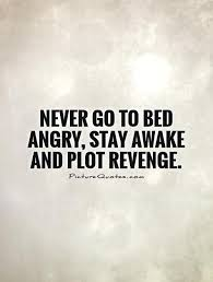 Never Go To Bed Angry Stay Awake And Plot Revenge - Revenge Quotes ...