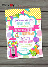 Candy Shop Birthday Invitation Printable By Partyinvitesandmore