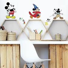 Disney Mickey Mouse 90th Anniversary 14 Piece Vinyl Wall Decal Set Buybuy Baby
