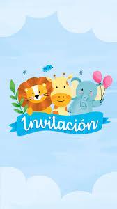 Tarjeta De Invitacion Animada De Animalitos Jungla En 2020