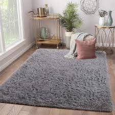 Amazon Com Terrug Super Soft Kids Room Nursery Rug Area Rugs For Children Bedroom Living Room Carpet Plush Fluffy Fur Rug For Kids Dorm Girls Room 5x8 Feet Grey Kitchen Dining