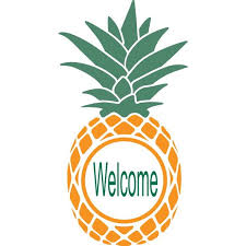 Welcome Sign Pineapple Picture Art Mural Custom Wall Decal Vinyl Sticker 12 Inches X 12 Inches Walmart Com Walmart Com