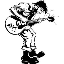 Punk Playing Guitar Car Decal Gympie Stickers