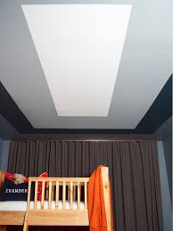 How To Paint A Graphic Modern Kids Room Ceiling Design Hgtv