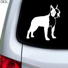 Boston Terrier 5 Decal For Car Window Stickany