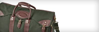 leather canvas duffle bags orvis