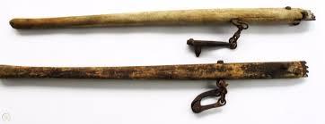 Vintage Wood Handle Barb Wire Stretchers 1868425526