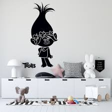 Queen Of Pop Trolls Poppy Wall Art Decal Vinyl Adhesive Trolls World Tour Movie Home Decor Design 20 X 23 Kids Bedroom Nursery Removable Doll Sticker Decoration Walmart Com Walmart Com