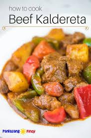 how to cook beef kaldereta panlasang