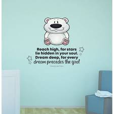 Zoomie Kids Reach High Cute Bear Life Quote Vinyl Wall Decal Wayfair