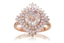 The Sonia Rose Cut Moissanite With Double Diamond Halo Art-Deco Ring –  samNsue
