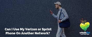 can i use my verizon sprint phone on