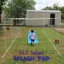 diy splash pad for summer fun year