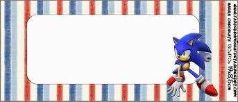 Sonic Etiquetas Candy Bar Para Imprimir Gratis En 2020
