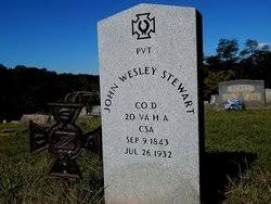 Pvt John Wesley Stewart (1843-1932) - Find A Grave Memorial