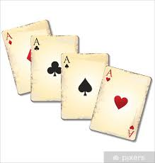 Old Playing Cards Wall Mural Pixers We Live To Change