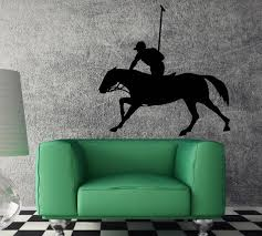 Wall Decal Polo Gentleman Sports Horse Riding Unique Decal Etsy