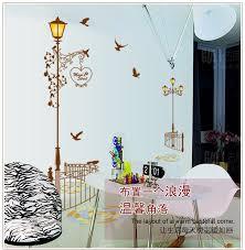 Scandinavian Street Lamp Scape Wall Sticker Walling Shop