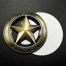 3pcs Metal Chrome Texas Edition Star Flag Car Emblems Badges Decal Stickers