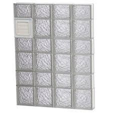 ice pattern dryer vented glass block