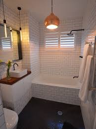 bathroom remodel with used subway tile