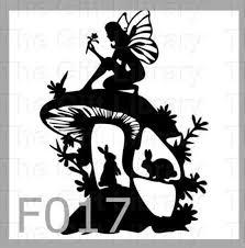 Fairies Wine Bottle Small Frame X 3 Vinyl Decals Fairy