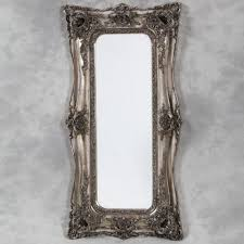tall silver ornate mirror double edged