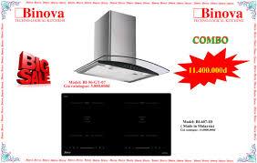 Combo máy hút mùi Binova BI-56-GT-07+ Bếp từ Binova BI-607-ID