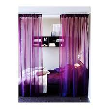 purple sheer curtains
