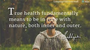 quote true health fundamentally means to be in tune nature