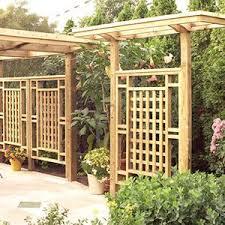 Freestanding Privacy Screen Trellis Backyard Pergola Backyard Backyard Privacy